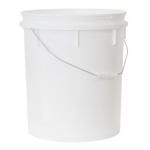 25L White Pail, Lid Included