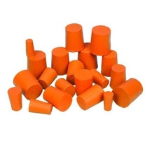Rubber Stoppers, Solid, 10PK