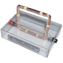 Magnetic Field Demo, Rectangular Coil Through Base