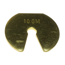 Weights Brass Slotted, 10g Mass Only