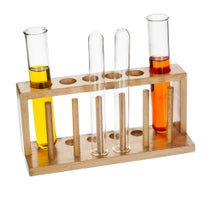 Stand Test Tube, Wooden for 6 Tubes 25mmD Holes