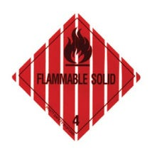 Labels DG, Flammable Solid 50 x 50 DISCONTINUED