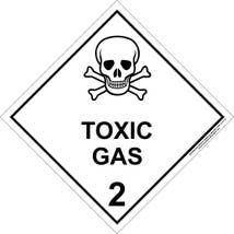 Labels DG, Toxic Gas 50x50mm DISCONTINUED