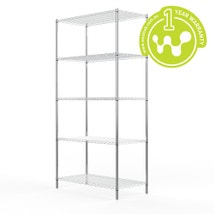 Chrome Plated Steel Wire Shelving 455 x 910
