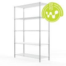 Stainless Steel Wire Shelving 455 x 1220 (5 Shelves) CLEARANCE