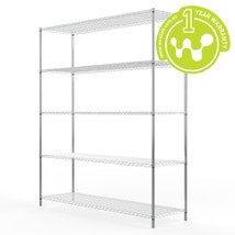 Chrome Plated Steel Wire Shelving 455 x 1525