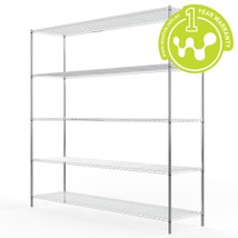 Chrome Plated Steel Wire Shelving 455 x 1825