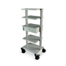 Modular Trolley, 4 Shelves & 1 Drawer & Castors Kit