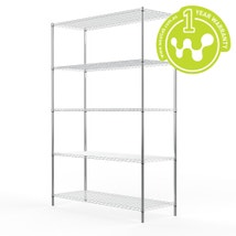 Chrome Plated Steel Wire Shelving 455 x 1220