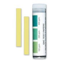 QAC Sanitiser Test Strips, 100-200-400ppm