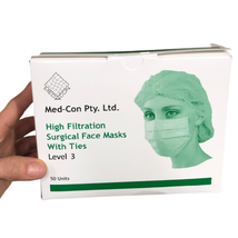 Medcon Level 3 Surgical Mask, Ties - Australian Made